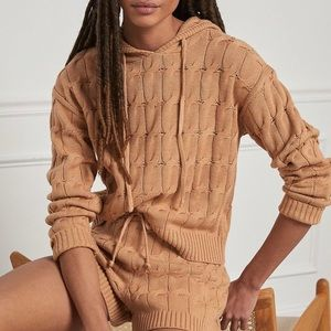 Anthropologie Cable-Knit Sweater Set